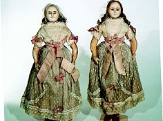 Dolls 53 cm with paper head, waxed (19th century).jpg